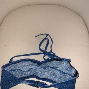 Swim - blue and white bikini top